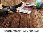 go on an adventure  the world... | Shutterstock . vector #699706660