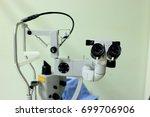 eye examination laser treatment ... | Shutterstock . vector #699706906