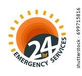 24hr emergency services logo... | Shutterstock .eps vector #699715816