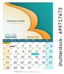 01 january hijri 1439 to 1440 ... | Shutterstock .eps vector #699717673