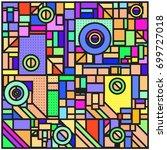 trendy geometric elements... | Shutterstock .eps vector #699727018