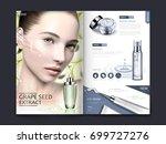 cosmetic magazine or catalog... | Shutterstock .eps vector #699727276