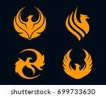 phoenix logo template vector...   Shutterstock .eps vector #699733630