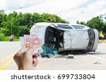 accident insurance can help you ... | Shutterstock . vector #699733804