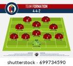 football or soccer match... | Shutterstock .eps vector #699734590