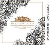 vintage delicate invitation... | Shutterstock . vector #699736660