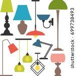 set of lamps. vector set of... | Shutterstock .eps vector #699738493