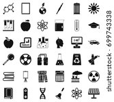 end of education icons set.... | Shutterstock .eps vector #699743338