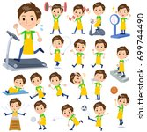 set of various poses of