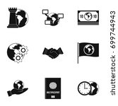 global icon set. simple set of... | Shutterstock .eps vector #699744943