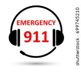 emergency call icon isolated on ... | Shutterstock .eps vector #699745210