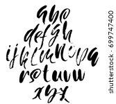 hand drawn elegant calligraphy... | Shutterstock .eps vector #699747400