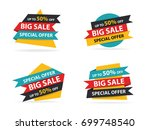 colorful shopping sale banner... | Shutterstock .eps vector #699748540