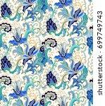 seamless vector floral pattern... | Shutterstock .eps vector #699749743