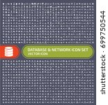 database and network icon set... | Shutterstock .eps vector #699750544
