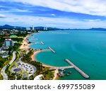 aerial view of pattaya harbor ... | Shutterstock . vector #699755089
