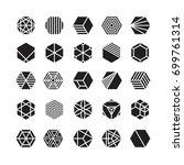hexagon geometric vector icon   ... | Shutterstock .eps vector #699761314