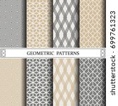 geometric vector pattern... | Shutterstock .eps vector #699761323