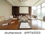 business meeting room or board... | Shutterstock . vector #699765553