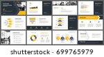 yellow presentation templates... | Shutterstock .eps vector #699765979
