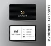modern business card design... | Shutterstock .eps vector #699770959