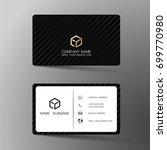 modern business card design... | Shutterstock .eps vector #699770980
