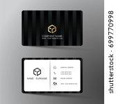 modern business card design... | Shutterstock .eps vector #699770998
