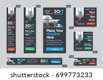 city background corporate web... | Shutterstock .eps vector #699773233
