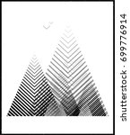 vector geometric triangle... | Shutterstock .eps vector #699776914