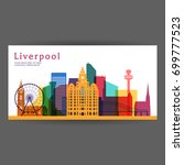 liverpool colorful architecture ... | Shutterstock .eps vector #699777523