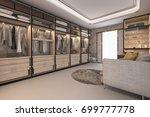 3d rendering minimal loft... | Shutterstock . vector #699777778