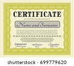 yellow certificate. with... | Shutterstock .eps vector #699779620