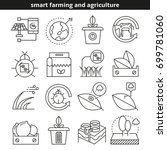 smart farming and agriculture... | Shutterstock .eps vector #699781060