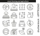 smart farming and agriculture... | Shutterstock .eps vector #699781063