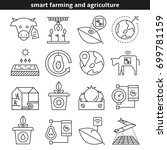 smart farming and agriculture... | Shutterstock .eps vector #699781159