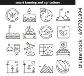 smart farming and agriculture...   Shutterstock .eps vector #699781894