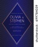 vector modern design wedding...   Shutterstock .eps vector #699784039