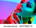 high fashion model woman in... | Shutterstock . vector #699788173