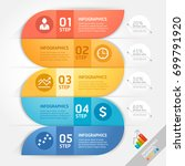 business infographics design... | Shutterstock .eps vector #699791920
