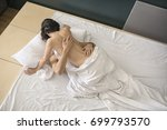 hot couple is having sex on the ... | Shutterstock . vector #699793570
