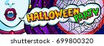 halloween illustration. open... | Shutterstock .eps vector #699800320