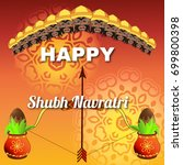 happy dussehra celebration... | Shutterstock .eps vector #699800398