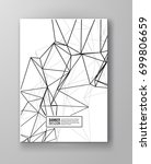 wireframe mesh poster with... | Shutterstock .eps vector #699806659
