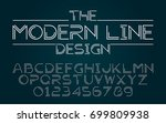 line half set style technology... | Shutterstock .eps vector #699809938