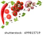 cherry tomato  red hot chili... | Shutterstock . vector #699815719