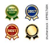 ribbons award best seller set.... | Shutterstock .eps vector #699817684