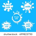 milk emblems and dairy labels... | Shutterstock .eps vector #699823750