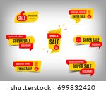 sale banner collection ... | Shutterstock .eps vector #699832420