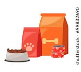 pet food. food for cats and... | Shutterstock . vector #699832690
