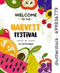Harvest Festival. Fruits Poster....